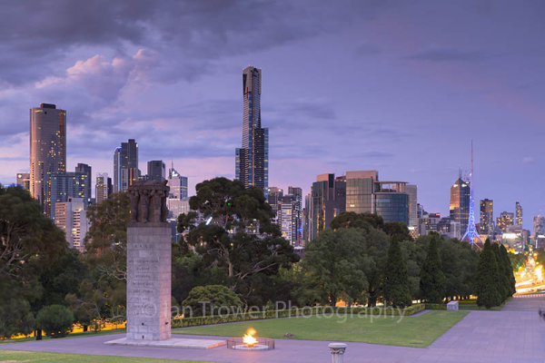 Skyline from Shrine of Remembrance, Melbourne