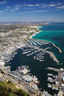 Fremantle harbour from the air