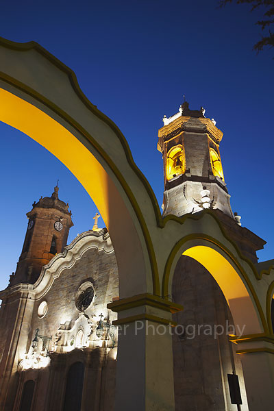 Cathedral at dusk, Potosi