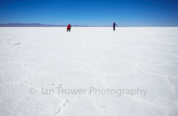 Tourists on Salar de Uyuni
