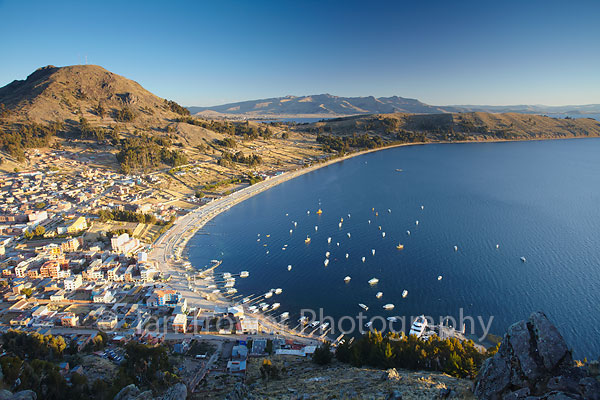 View of Copacabana, Lake Titicaca