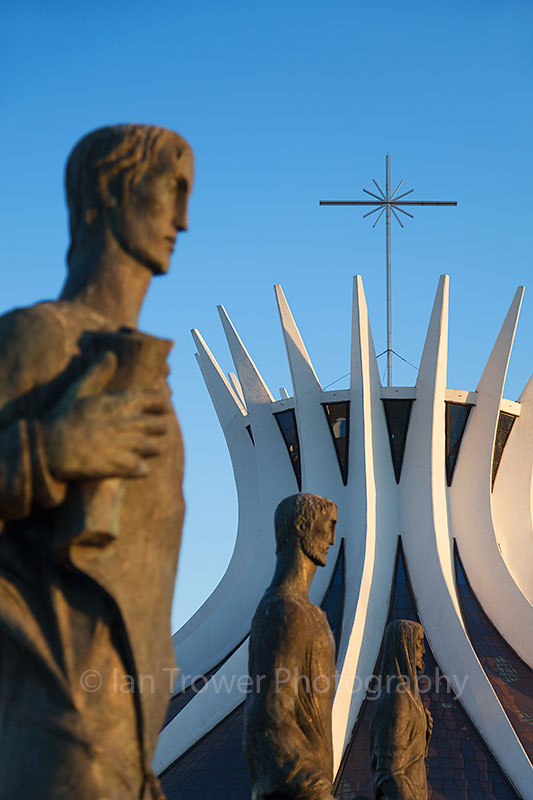 Statues outside Cathedral, Brasilia