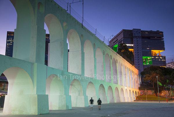 Arcos da Lapa at dusk, Rio de Janeiro