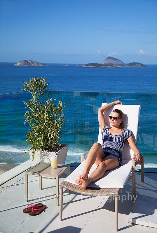 Woman at Praia Ipanema Hotel, Rio de Janeiro, Brazil