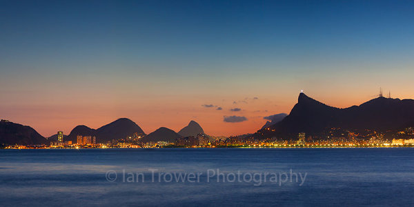 Rio skyline at sunset