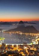 Sugarloaf Mountain at dawn, Rio de Janeiro