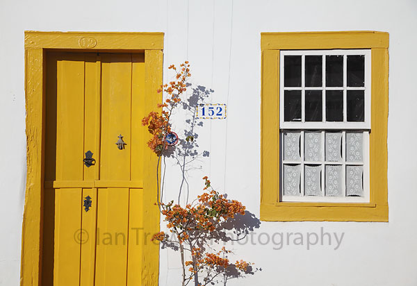 Colourful door and window, Tiradentes