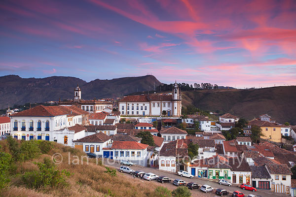 Ouro Preto at sunset