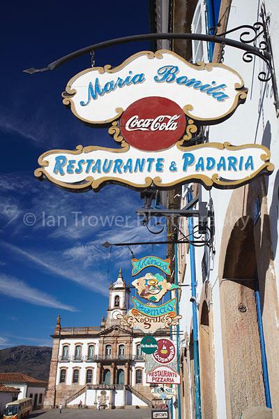 Shop signs, Ouro Preto