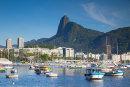 View of Christ the Redeemer across Botafogo Bay, Rio de Janeiro
