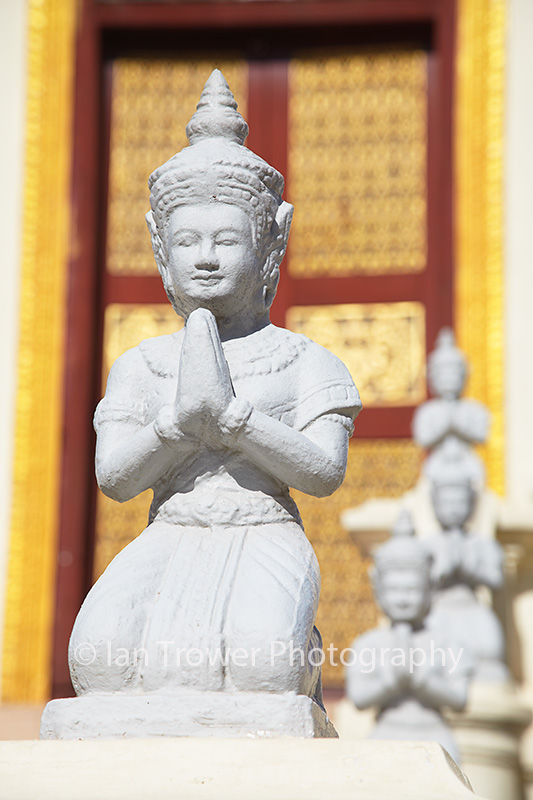 Statues at Silver Pagoda in Royal Palace, Phnom Penh