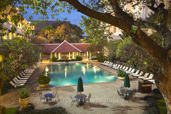 Pool at Raffles Hotel, Phnom Penh, Cambodia