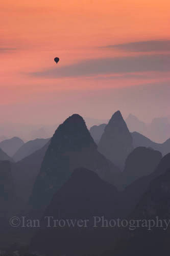 Hot Air Balloon, Yangshuo, Guangxi