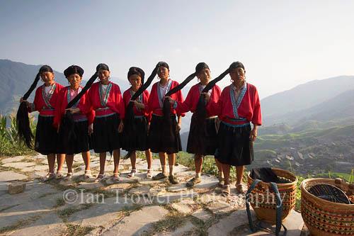 Long Haired Women, Ping An, Guangxi