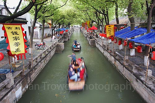 Boats On Canal, Tongli, Jiangsu
