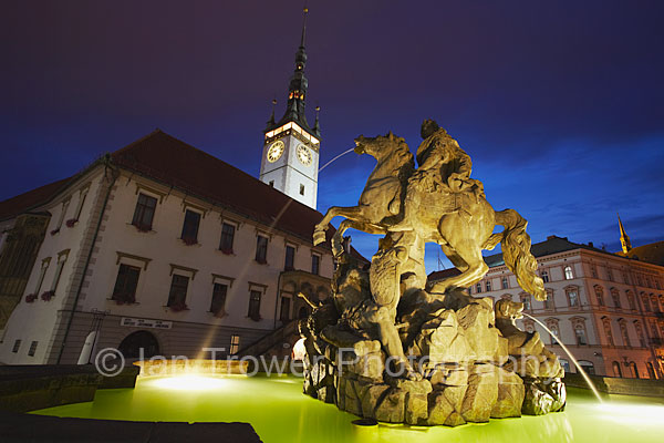 Fountain And Town Hall, Olomouc