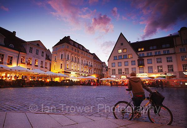 Bike In Town Hall Square, Tallinn