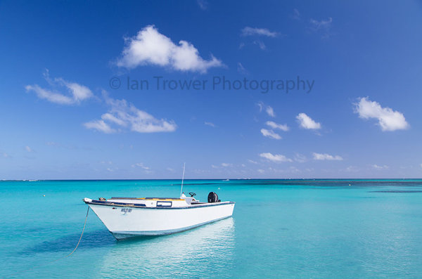 Boat on Blue Lagoon, Yasawa Islands