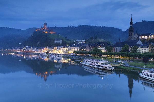 River Moselle at dusk, Cochem