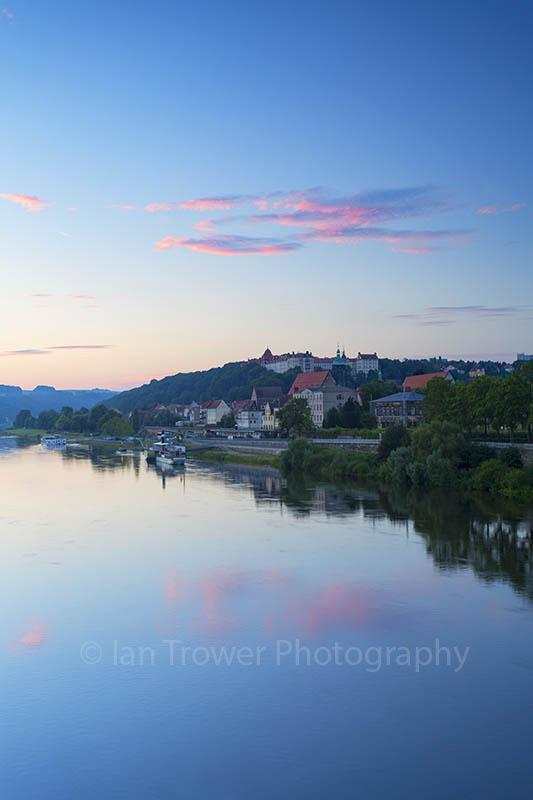 River Elbe at dawn, Pirna