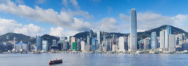 Star Ferry and skyline, Hong Kong