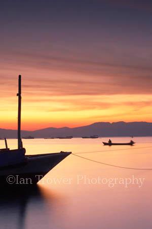 Lone Fishing Boat, Lewoleba, Flores