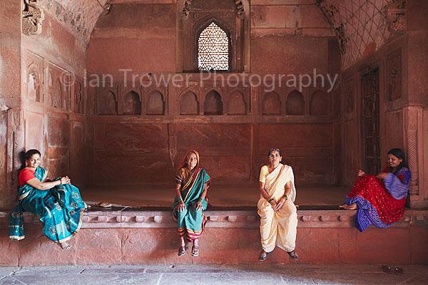 Women in Agra Fort