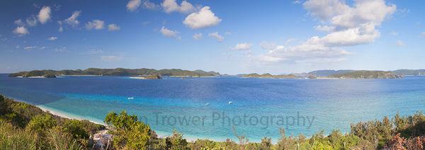View from Nishibama Beach, Aka Island, Okinawa, Japan