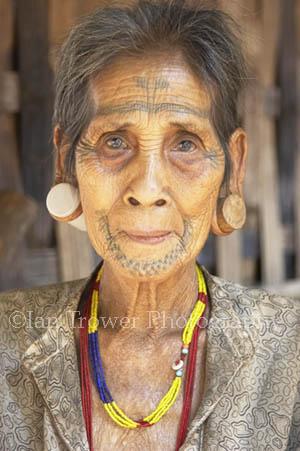 Tattooed Woman, Bolaven Plateau, Laos