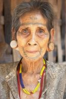 Tattooed Woman, Bolaven Plateau, Laos