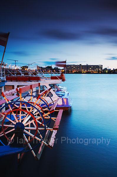 Boats At Dusk, Riga