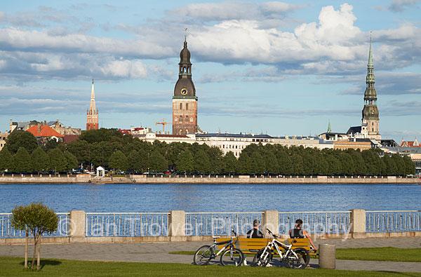 Old Town Across Daugava River, Riga