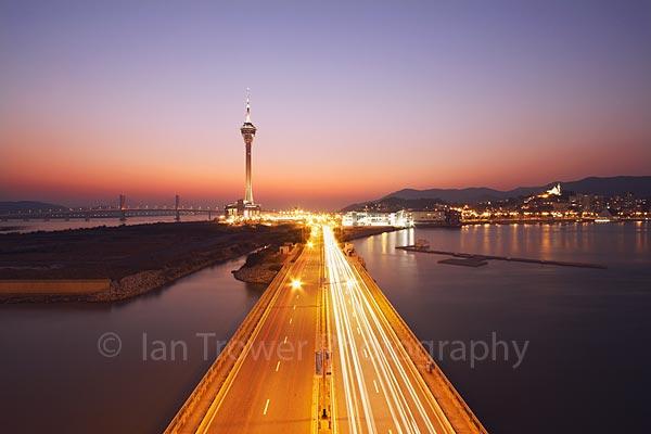 Macau Tower At Sunset
