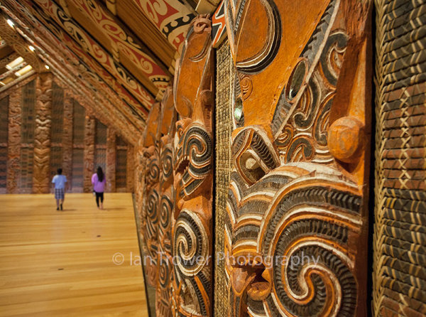 Maori ancestral hall in Auckland Museum, Auckland