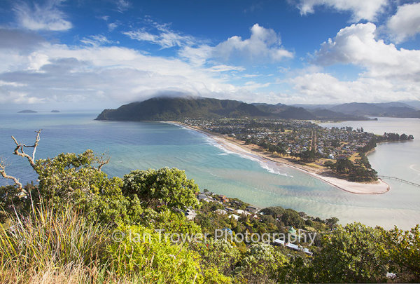 View of Pauanui from Mount Paku, Tairua, Coromandel Peninsula