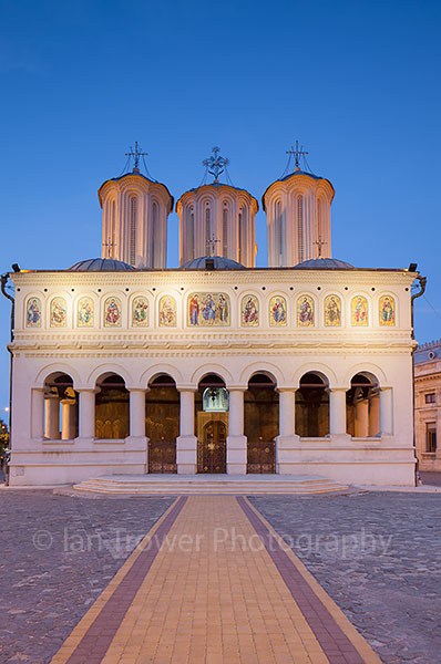 Patriarchal Cathedral at dusk, Bucharest
