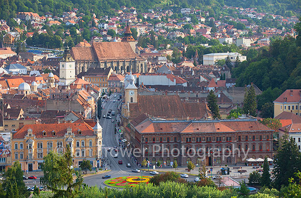 View of old town, Brasov