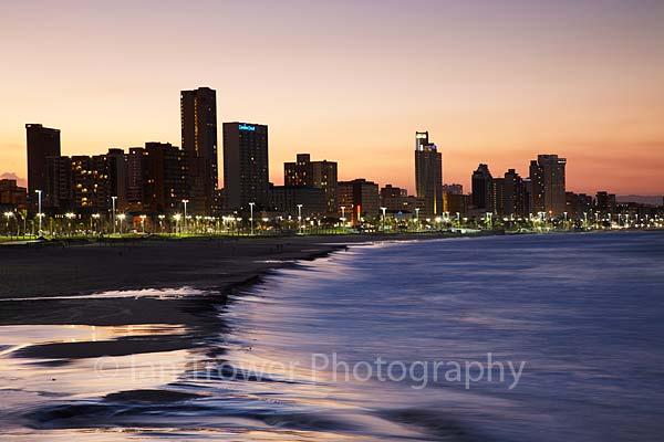 Durban skyline at dusk