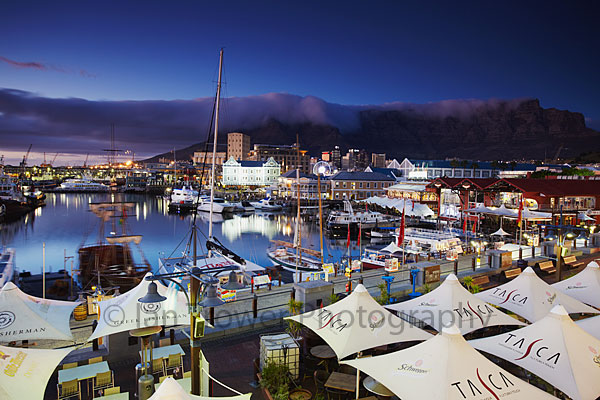V + A Waterfront at dawn, Cape Town