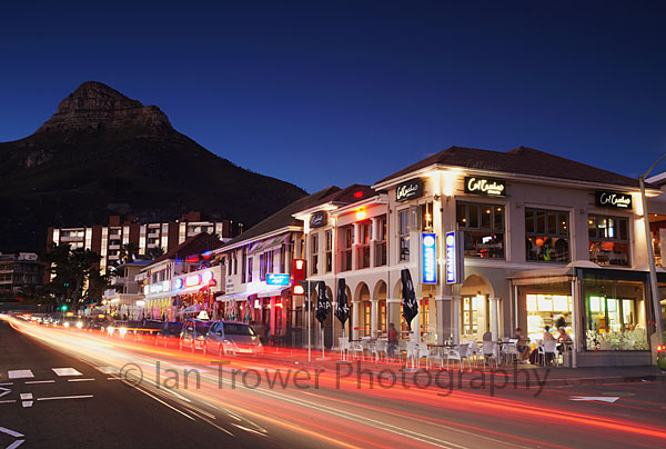 Camps Bay light trails, Cape Town