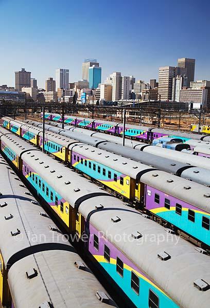 Trains at Park Station, Johannesburg