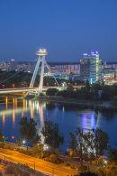 New Bridge at dusk, Bratislava