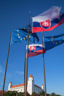 Bratislava Castle and flags