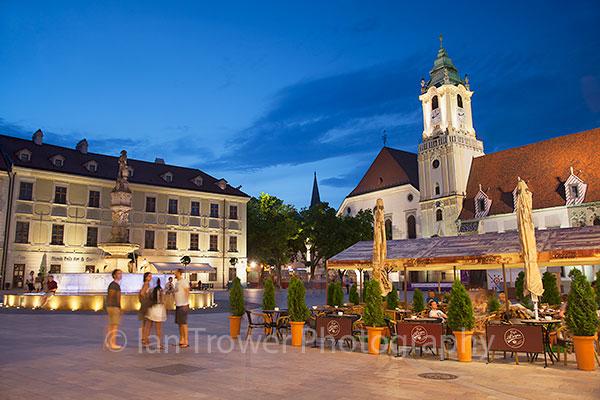 Main Square at dusk, Bratislava