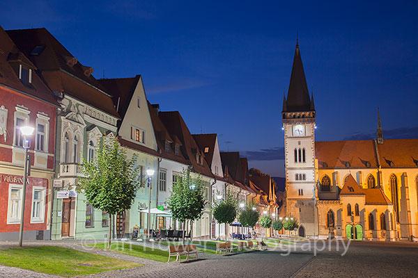 Basilica of St Egidius in Radnicne Square, Bardejov