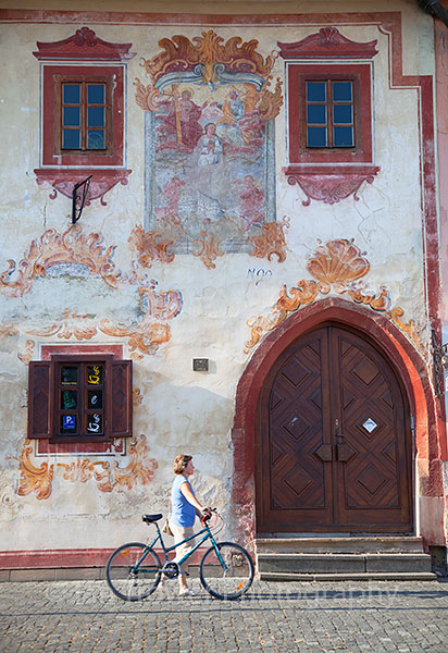 Decorative house in Radnicne Square, Bardejov