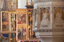Interior of Basilica of St Egidius, Bardejov