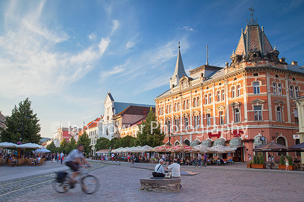 Outdoor cafes in Main Square, Kosice