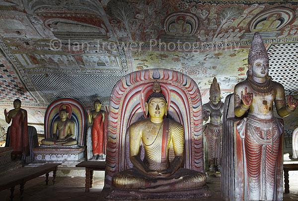 Statues in Cave Temples, Dambulla