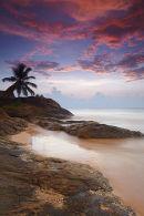 Bentota beach at sunset